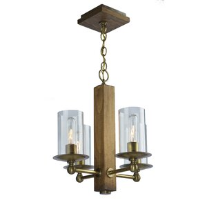 Legno Rustico 4-Light Candle-Style Chandelier