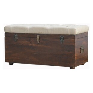 Moskowitz D-Button Upholstered Storage Bench by Gracie Oaks