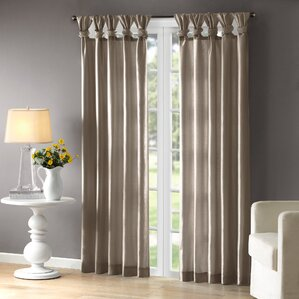 Rivau Solid Room Darkening Tab Top Single Curtain Panel Part 68
