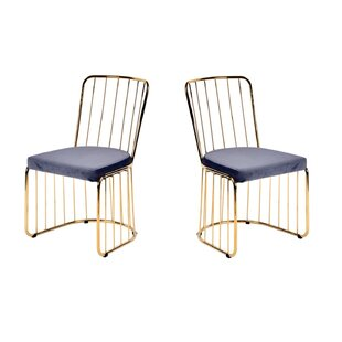 Alemany Upholstered Dining Chair (Set of 2) Mercer41