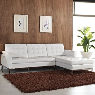 Orren Ellis Gayatri Contemporary Leather Sectional