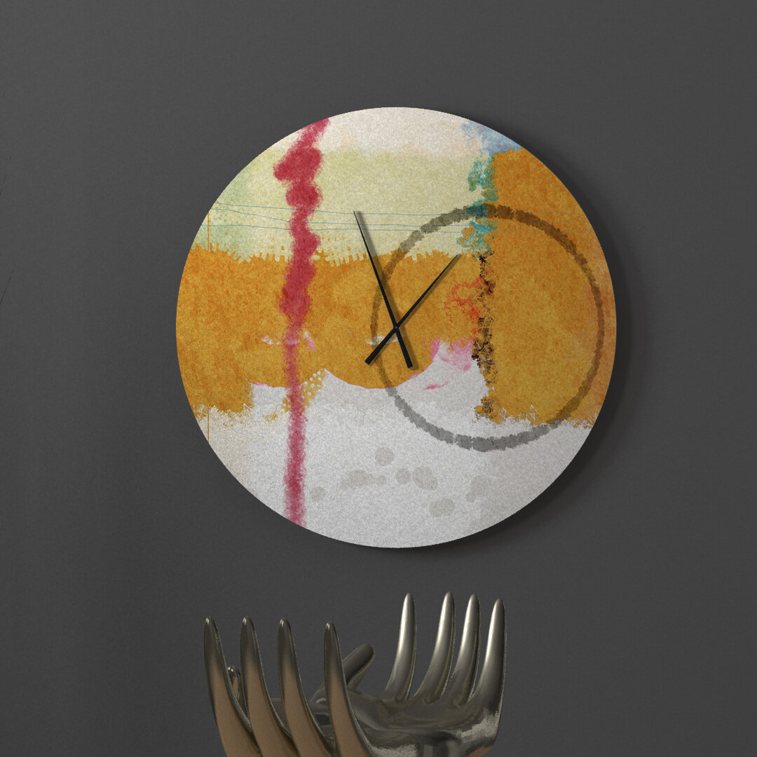 Latitude Run Wholehearted Unanimous Abstract Metal Wall Clock Wayfair