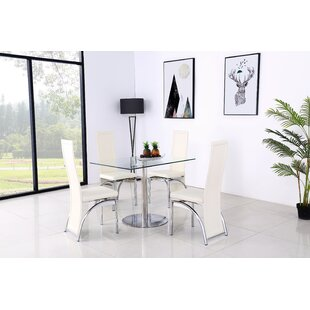 Adlingt Dining Set With 4 Chairs By Metro Lane