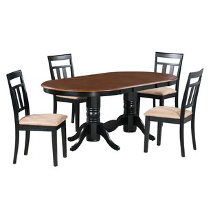 Shea 5 Piece Extendable Solid Wood Dining Set Alcott Hill