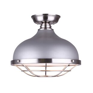 Wilke 1-Light Semi Flush Mount..