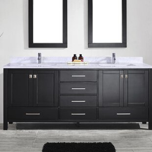 Zeringue 84 Wood Base Double Bathroom Vanity Set by Brayden Studio