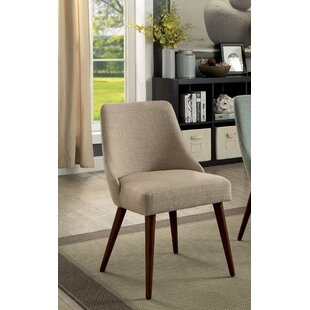 Eady Mid-Century Upholstered Dining Chair (Set of 2)