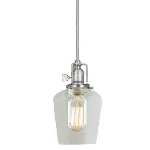 Gracie Oaks Edgar 1-Light Bell Pendant