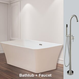 Shopping for 67 x 32 Freestanding Soaking Bathtub ByWoodBridge