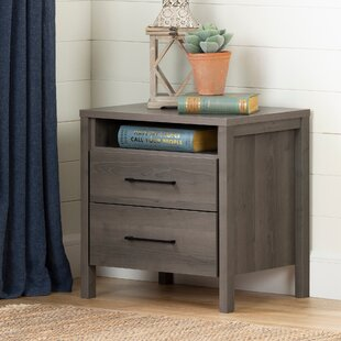 Gravity 2 Drawer Nightstand South Shore