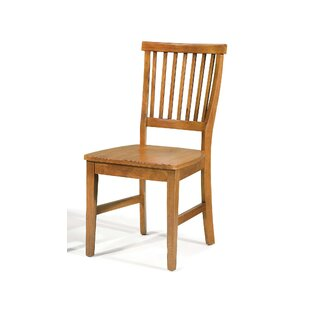 Ferryhill Solid Wood Dining Chair (Set of 2) Three Posts