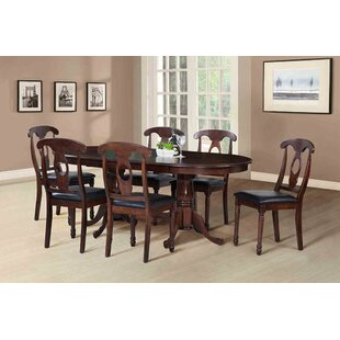 Darby Home Co Bateson Extendable Solid Wood Dining Table
