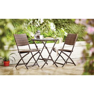 Prattsville 3 Piece Outdoor Bistro Set by Zipcode Design 2019 Sale