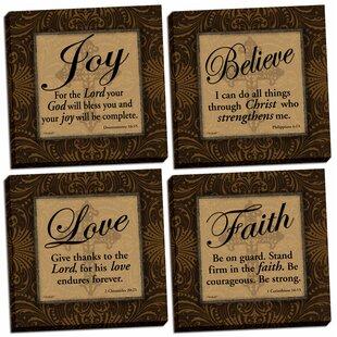 Classic Religious Quotesu0027 Graphic Art Print Set (Set Of 4)