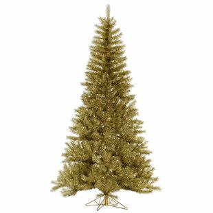 Tinsel 12 Gold Artificial Christmas Tree
