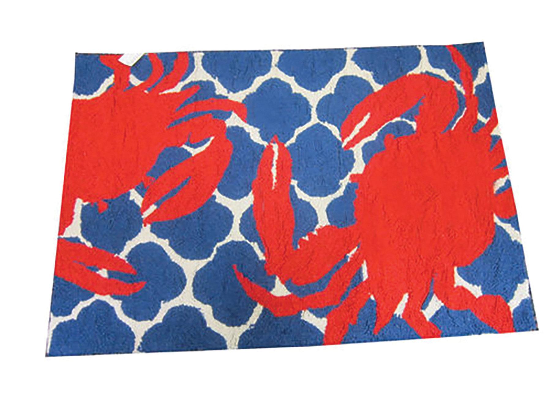Breakwater Bay Kara Ogee Hand Hooked Wool Red Blue Area Rug Wayfair