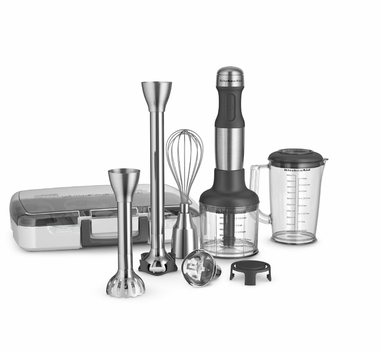 Kitchenaid Stainless Steel 5 Sd Immersion Blender With 2 Blending Arms Reviews Wayfair