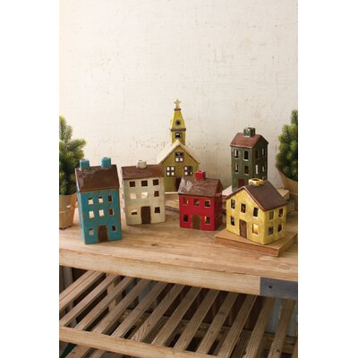 The Holiday Aisle 6 Piece Ceramic Village Set