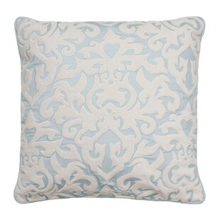 Arlee Embroidered 100% Cotton Throw Pillow