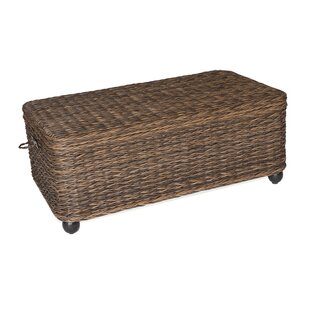 Flemming Storage Wicker Coffee Table