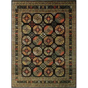 Find the perfect Oneman Hand-Knotted Wool Black Area Rug ByWorld Menagerie