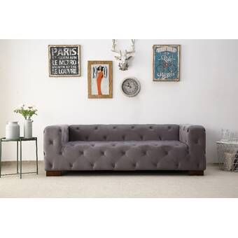 Ossett Tufted Elegant Chesterfield Sofa Reviews Allmodern