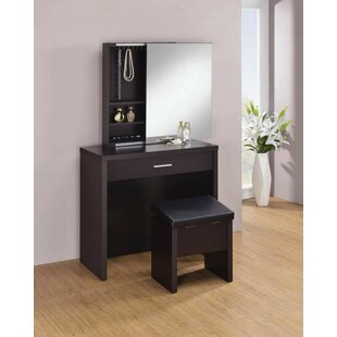 Nydia Vanity Set with Mirror by Latitude Run