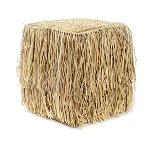 The Raffia Shaggy Stool By Bazar Bizar
