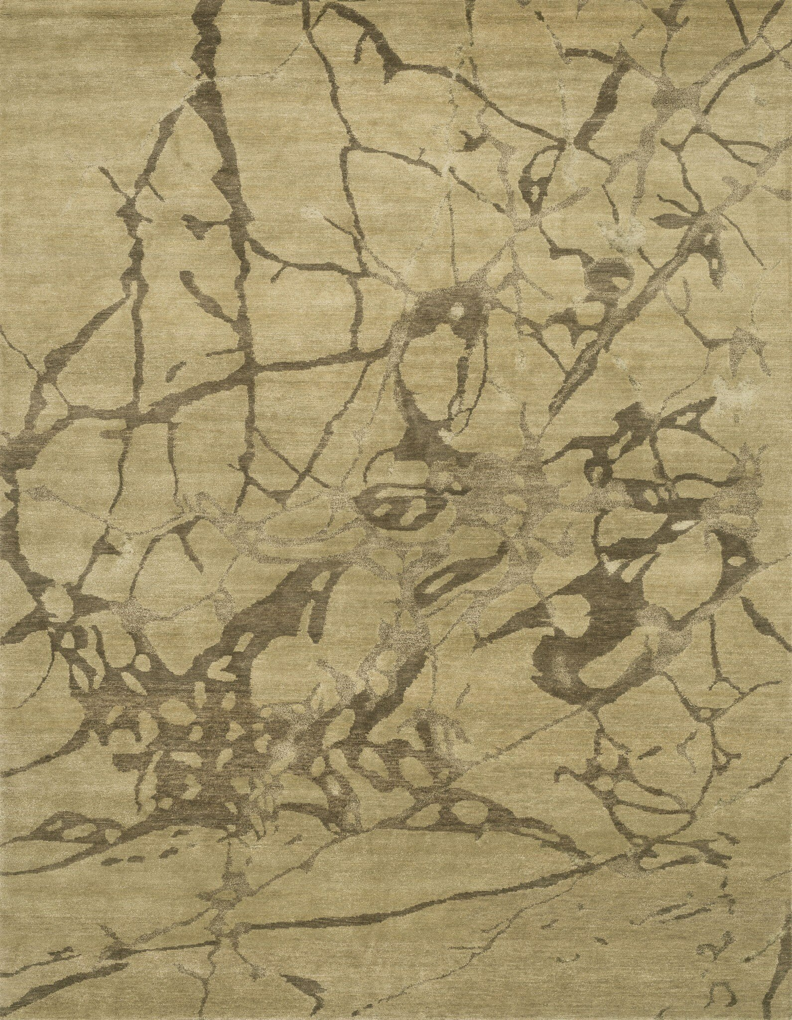Loloi Rugs Hermitage Abstract Hand Knotted Wool Silk Beige Ash Area Rug Perigold