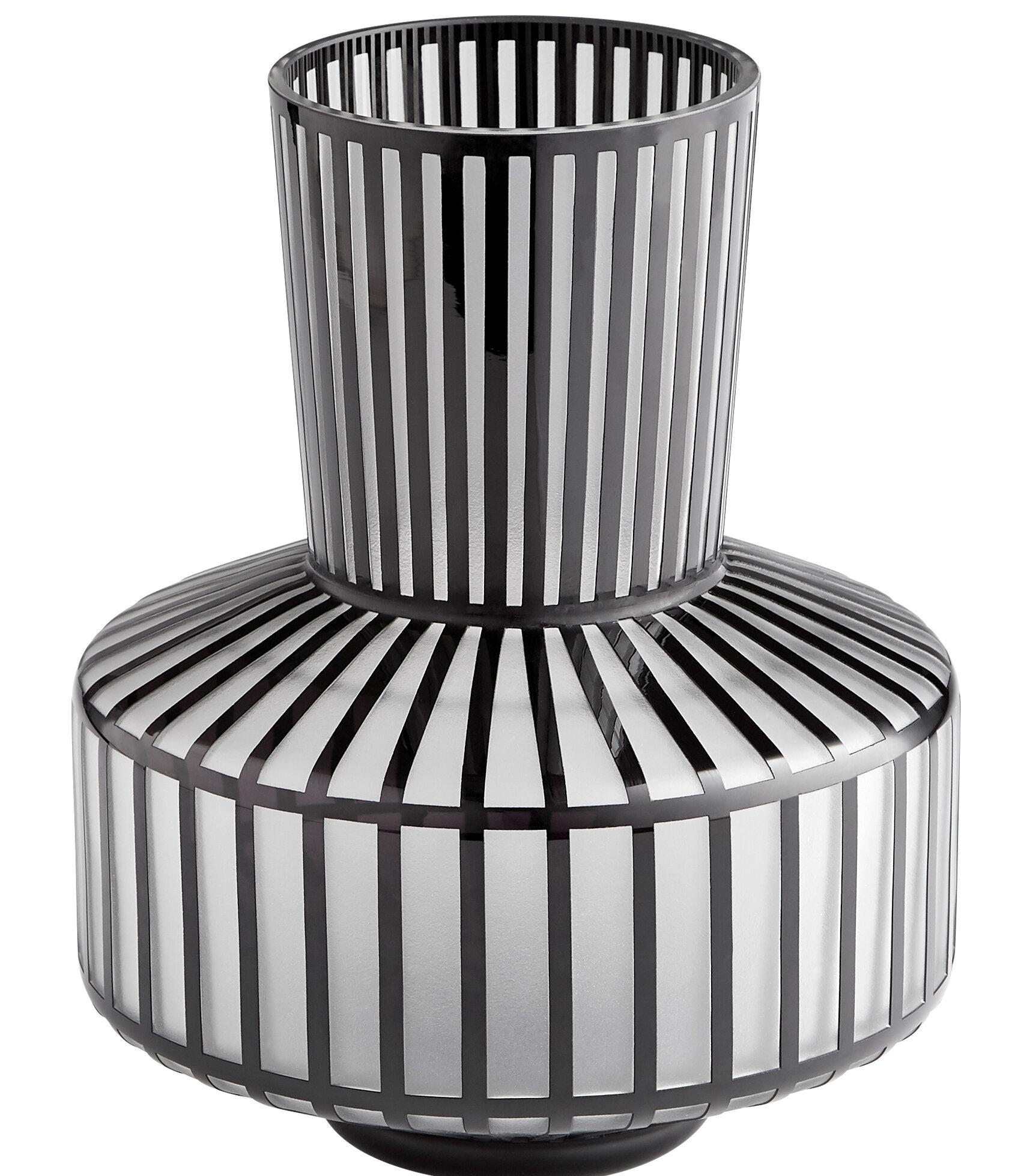 Cyan Design Black White Glass Table Vase Wayfair