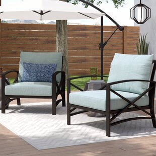 Ivy Bronx Freitag Patio Chair with Cushio..