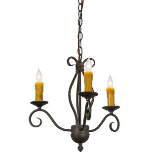 Meyda Tiffany Sienna 3-Light Candle Style Chandelier