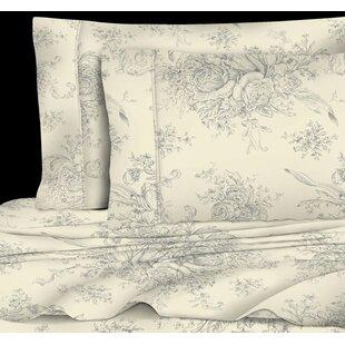Ophelia & Co. Emerald Toile 400 Thread Count 100% Cotton Sheet Set