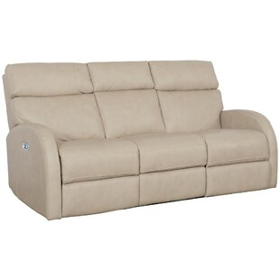 Clemens Leather Reclining Sofa by Bernhardt