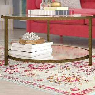 Benigna Coffee Table with Magazine Rack