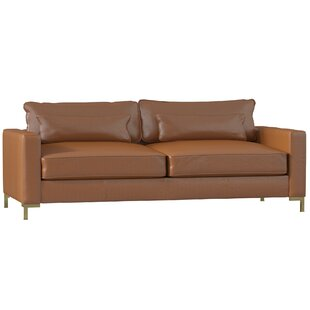 Maxine Leather Sofa. By DwellStudio