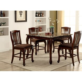 Dominey 5 Piece Counter Height Dining Set Astoria Grand