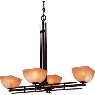 Comparison Lineage 4-Light Shaded Chandelier By Minka Lavery
