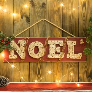Traditional Wooden Noel Sign Wall D?cor by The Holiday Aisle
