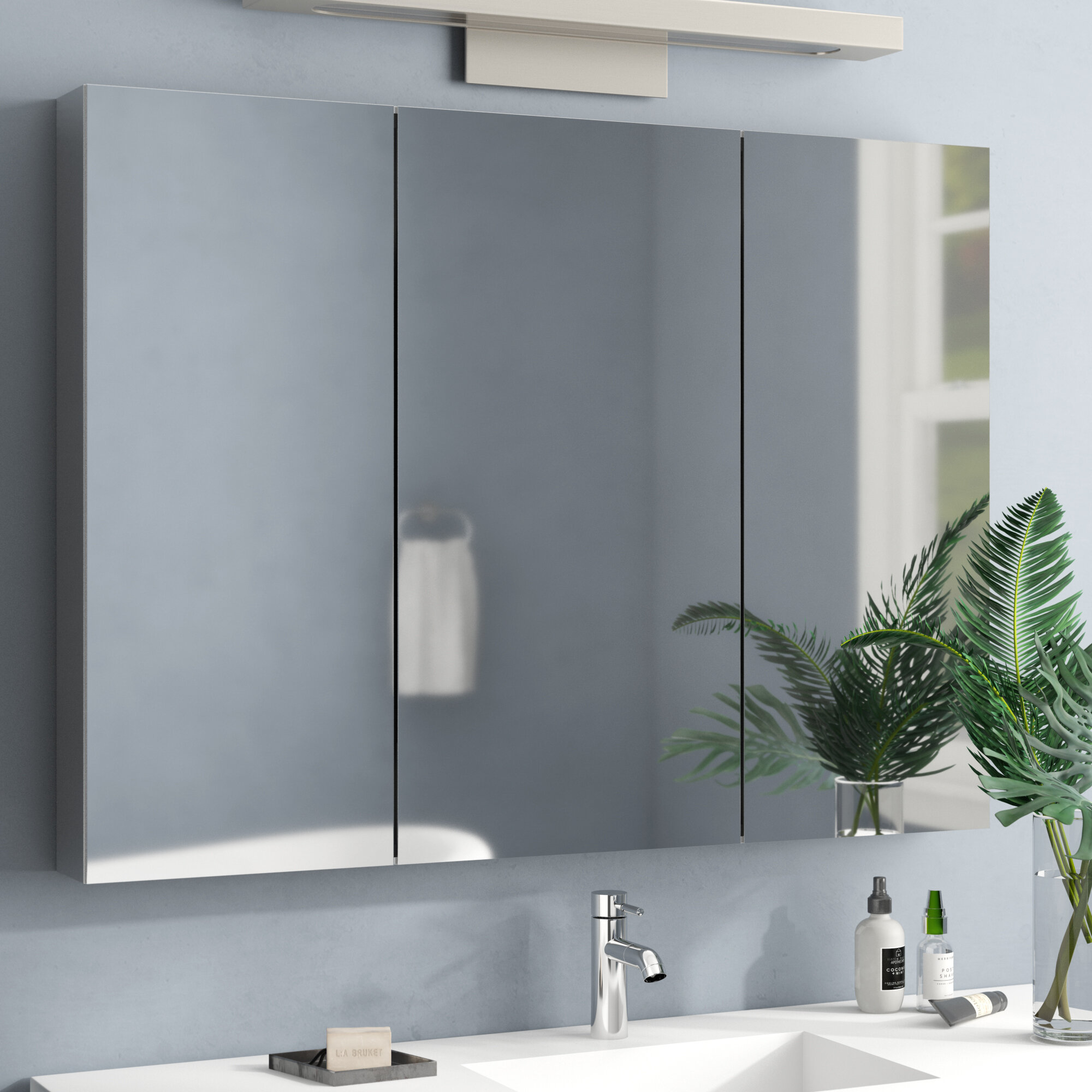 Twitty Recessed Frameless 12 Doors Medicine Cabinet with 12 Adjustable Shelves