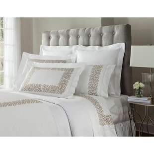 Jasmine Embroidered 300 Thread Count Cotton Flat Sheet