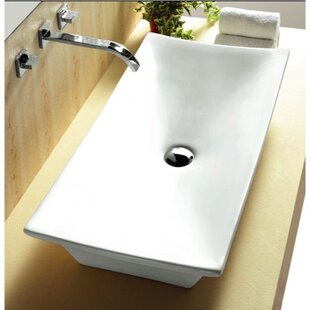 Read Reviews Ceramica Ceramic Rectangular Vessel Bathroom Sink By Caracalla