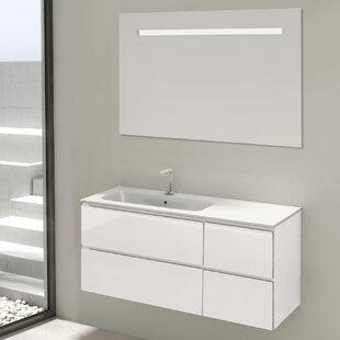 Loire 3-Piece Bathroom Furniture Set With LED Mirror By Belfry Bathroom