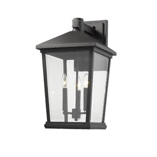 Hagberg 3-Light Outdoor Sconce by Charlto..