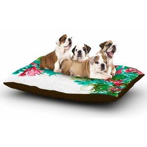 Ebi Emporium 'Floral Cascade 7' Dog Pillow with Fleece Cozy Top