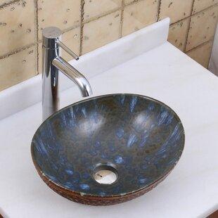 Savings Elite Ceramic Oval Vessel Bathroom Sink By Elimaxs
