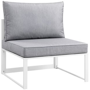 Fehi Outdoor Patio Armless Chair with Cushion