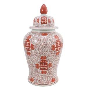 High Dynasty Lidded Decorative Jar