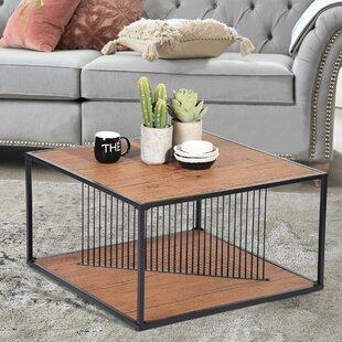 Isai Coffee Table with Tray Top