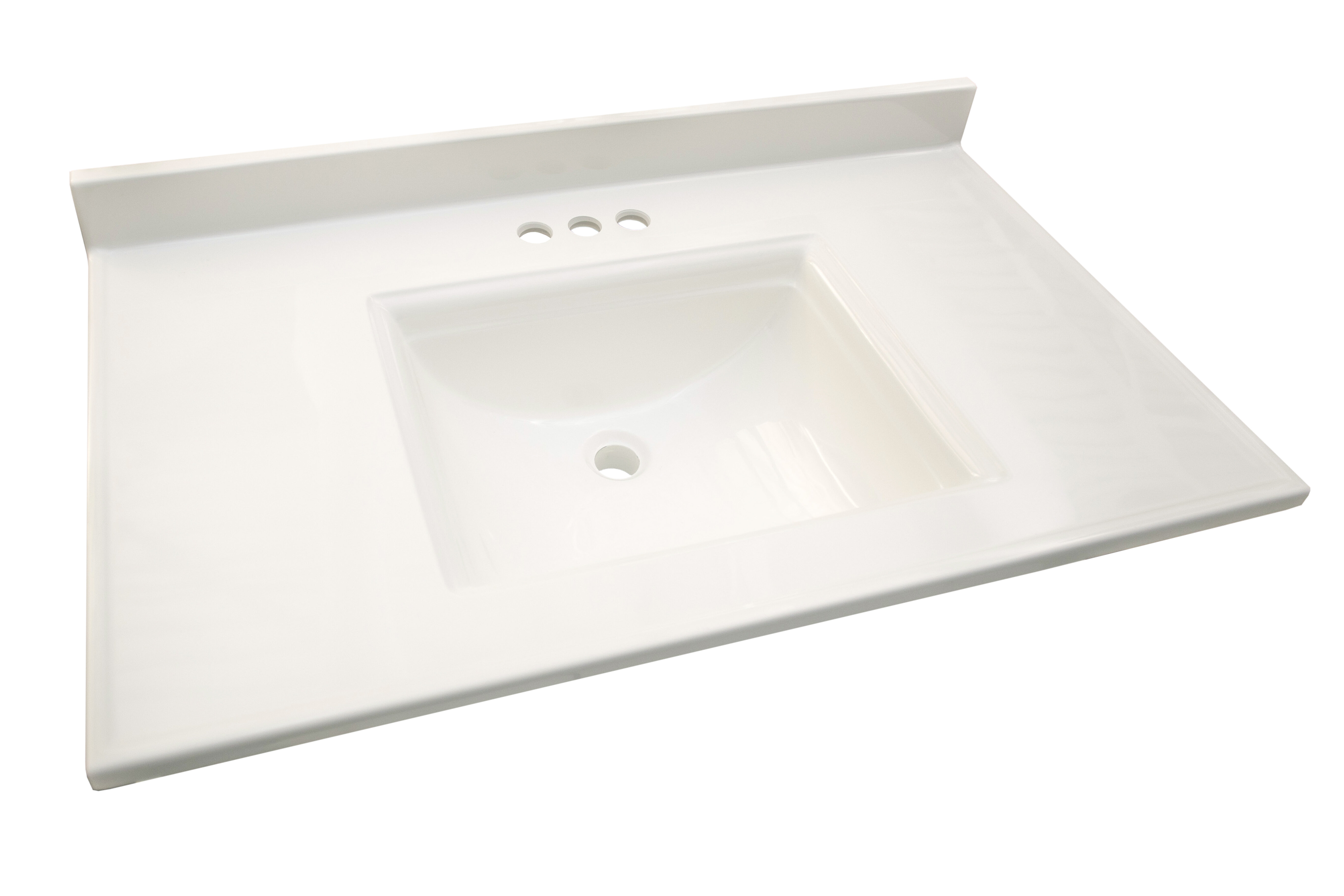 Design House Camilla 37 In Cultured Marble Vanity Top In Solid White With Basin Wayfair